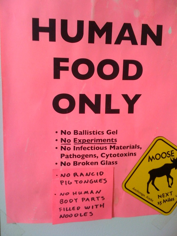 No rancid pig tongues; No human body parts filled with noodles