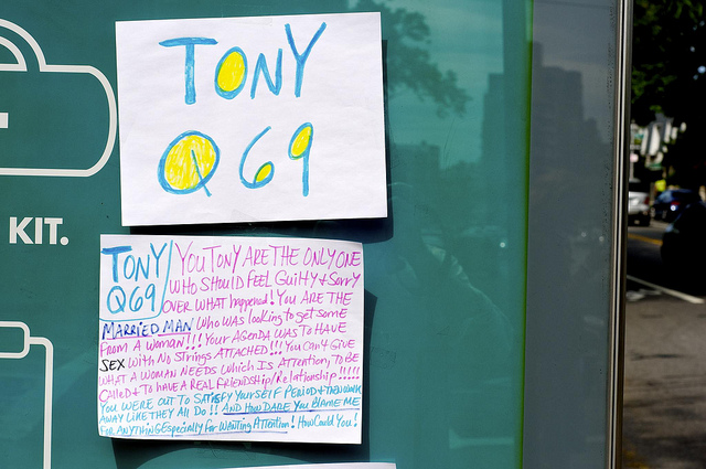 TONY Q69: You Tony are the only one who should feel guilty and sorry over what happened! You are the married man who was looking to get some from a woman!!! Your agenda was to have SEX with no strings attached!!! You can't give what a woman needs which is attention, to be called + to have a real friendship/relationship!!!!!! You were out to satisfy yourself period and then walk away like they all do!! And how dare you blame me for anything especially for wanting attention! How Could You!